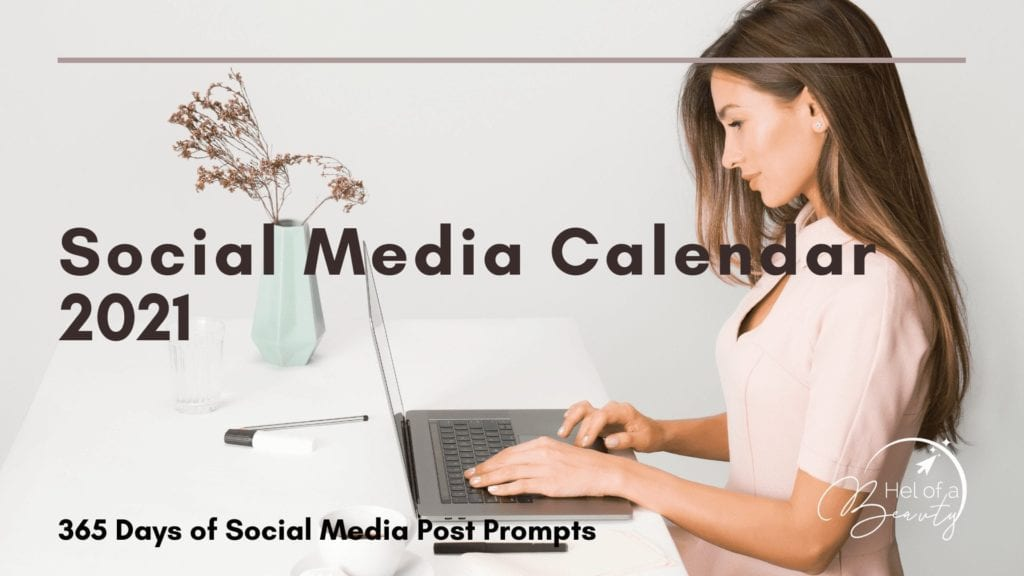 2021 E-Commerce & Social Media Calenders